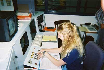 Ceris at the control panel