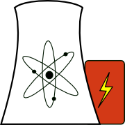 A sketch of a nuclear power plant